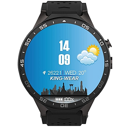KW88 - 3G Smart Watch Phone 512MB/4GB Android 5 1 400mAh - Black
