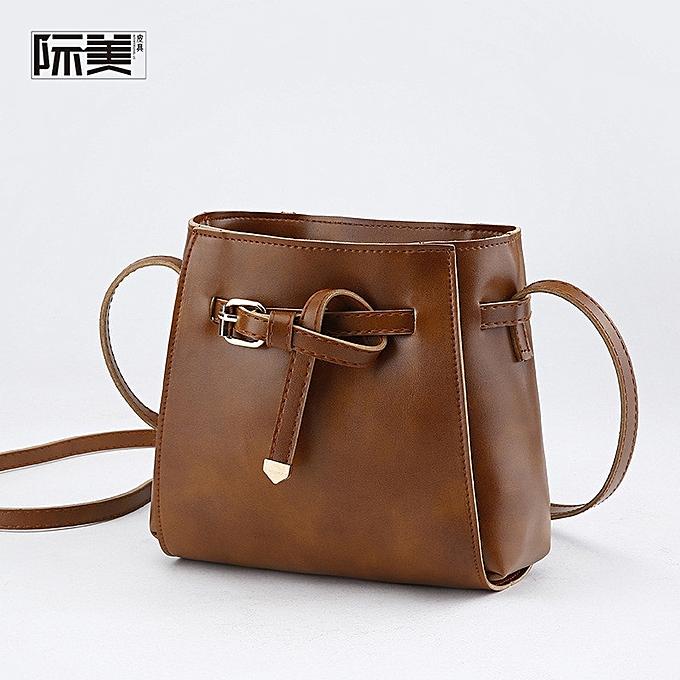 cda1a8fb7332 New Women s Bag Messenger Bag Wild Small Bag Ladies Shoulder Bag Belt  Decoration Small Square Bag