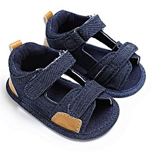 b56c64ebe2a448 Baby Boys Toddler Canvas Infant Kids Girl Boys Sole Crib Toddler Sandals  Shoes-As Shown