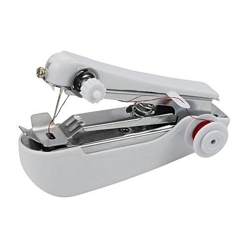 Portable Needlework Mini Hand-Held Sewing Machine - White