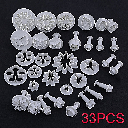 33PCS/SET Durable Cake Cookie Fondant Mould Mold Kitchen Baking Accessories