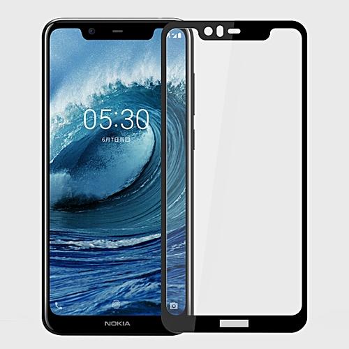 MOFI 9H 2.5D Full Screen Tempered Glass Film For Nokia 5.1 Plus (Nokia X5)(Black)