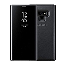 Galaxy Note 9 Clear View Standing Cover Wallet Case With Sensor Black - LATEST EDITION