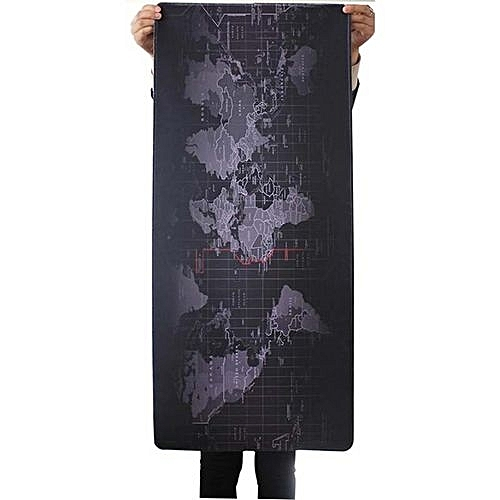 Large Size 900x400x3mm World Map Speed Extended Gaming Mouse Mat Pad Laptop