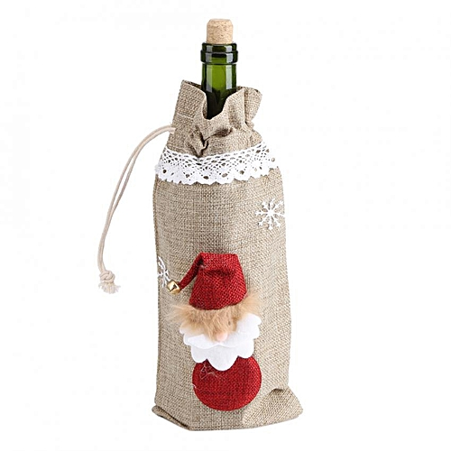 SHANYU Christmas Party Gift Decorations Snow Man Wine Bottle Cover Bags
