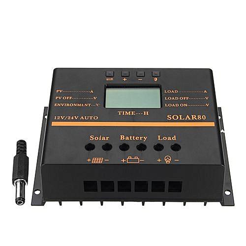 12V/24V 50A PWM Solar Controller LCD Function 5V DC Solar Panel Battery Charge Regulator