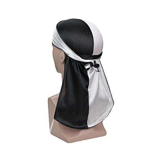 Black/White Silky Durag