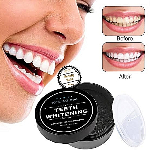 Sparkling Teeth Whitening Activated Charcoal Powder For Whiter Teeth Oral Care, Remove Mouth Odour