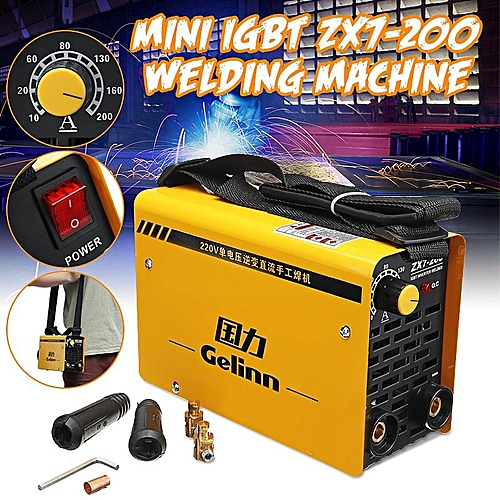 IGBT 20-200A 220V Inverter Arc Electric Welding Machine MMA W Elder For Welding Working And Electric Working ZX7-200