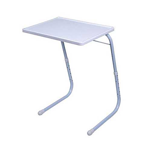 Adjustable Foldable Table Mate - White