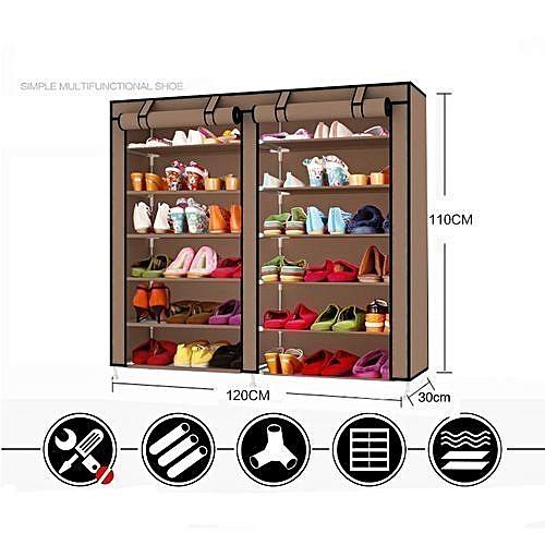 Double 6 Layers Shoe Wardrobe...
