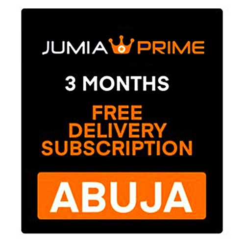 Jumia Prime - Free Delivery Abuja - 3 Months Subscription