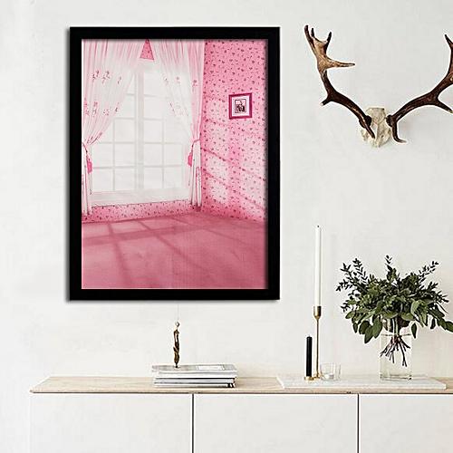 Window Printing Art Silk Cloth Posters Decorative Fabric -44x33cm