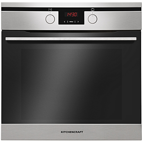 Kitchencraft 60cm Built In Electric Oven Silver - Illuminated Knobs -Smart Series - Boi622