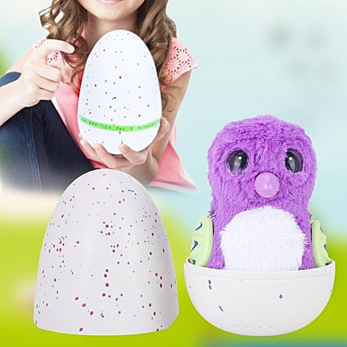 Interactive Hatchable Egg With Animal Plush Toy Changing Eye Color Novelty Children Kids Gift