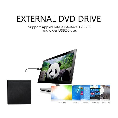GB Super Slim USB 3.0 Dual Layer Pop-up Mobile External DVD Drive DVD-RW For PC-black