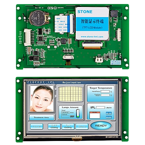 """3.5"""" Smart TFT LCD Module Controlled By Any MCU"""