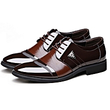 9ff1bc0db609d9 Men  039 s Formal Lace-up PU Shoes - Brown(+ 1
