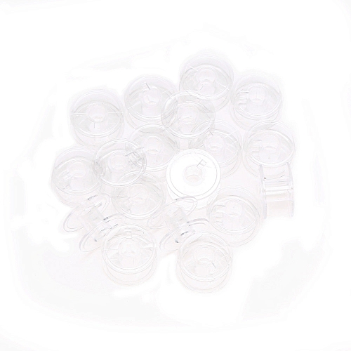 Dtrestocy Lots 20pcs Clear Plastic Empty Bobbins For Brother Janome Singer Sewing Machines