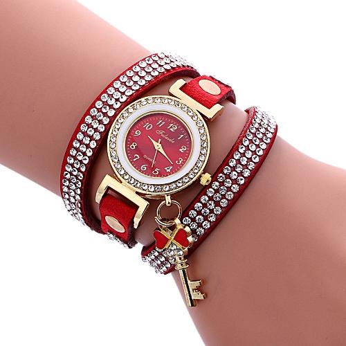 Diamonds Padlocks Bracelet Lady Womans Wrist Watch A1