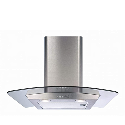 Italian 90cm Curved Glass Cooker Hood Extractor In Stainless Steel