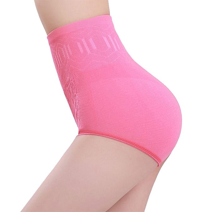 19248c10ce ... High Waist Tummy Control Hip Lifting Body Shaper Slimming Briefs-Hot  Pink ...