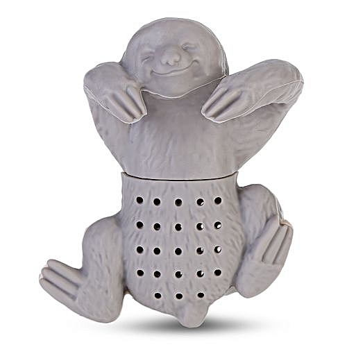 Sloth Shape Tea Infuser Silicone Strainer Hole Filter - Gray