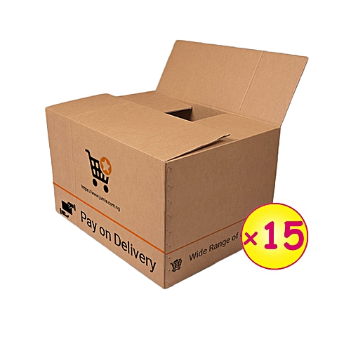 15 Medium Branded Cartons (004) (292mm x 196mm x 254mm) [2018 new design]