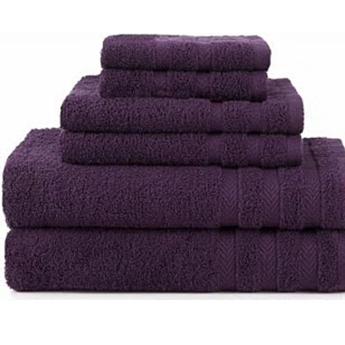 Bath Towel Cotton - Purple (Extra Large, Large, Medium)