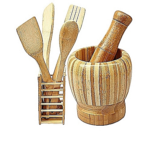 Wooden Spoons, Mortar & Pestle kitchen tool