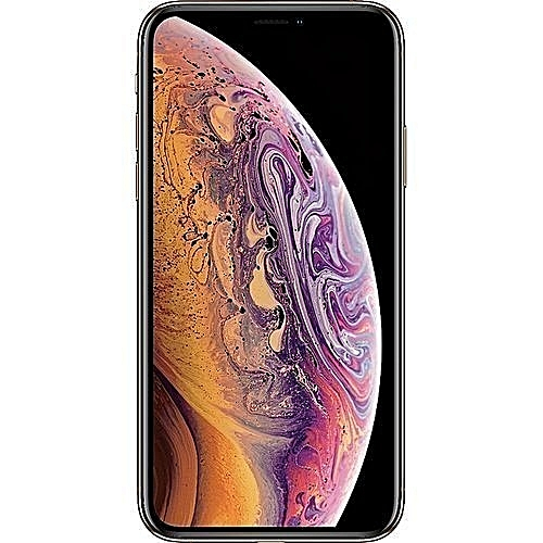 IPhone XS Max (4GB RAM, 64GB ROM) IOS 12 (12MP + 12MP)+7MP With Tempered Glass And Back Cover - Gold