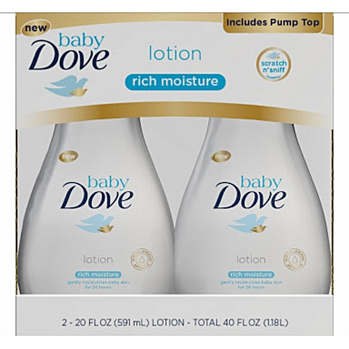 Baby Dove Lotion Rich Moisture 2in1 591ml × 2