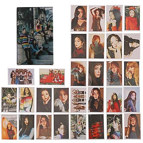 Eleganya 30 Pcs/Set Kpop Red Velvet Collective Fashion Photo Cards