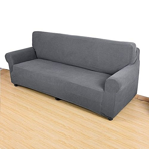 Stretch Sofa Cover Polyester 2 Seater Slipcover Protector Couch Cover Grey