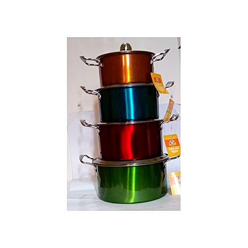 Multi-color Dishing Stock Pot Set