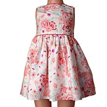 Girls Sleeveless Lined Dress With Back Botton fd63b485f0