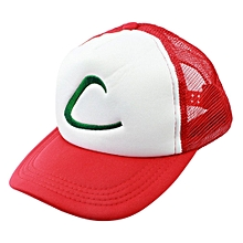 Pokemon Ash Ketchum Hat-Free Size-Red+White 5c00e3805ccb