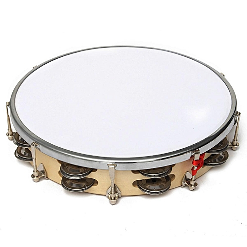 Polyester Leather Pandeiro Drum Tambourine Samba Brasil Wood Music Instrument