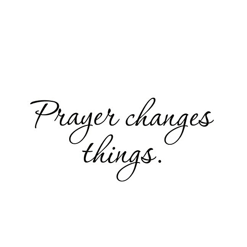 Prayer Changes Things Removable Art Vinyl Mural Home Room Decor Wall Stickers-Black