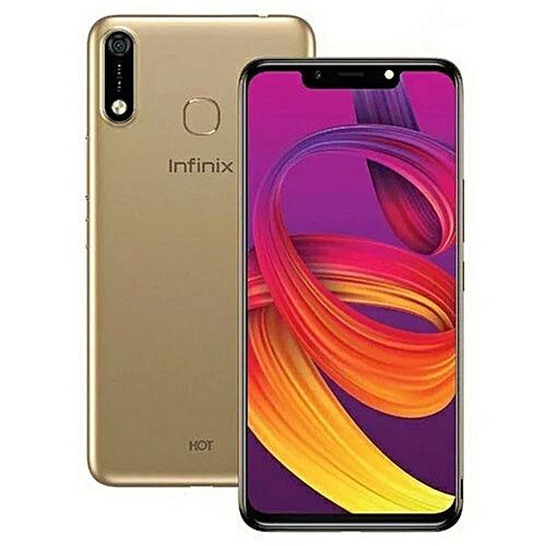HOT 7 (X624B) 6.2-Inch (32GB ROM, 2GB RAM) 13MP + 8MP 4000mAh Dual SIM, Face Unlock 3G Smartphone - Champagne Gold