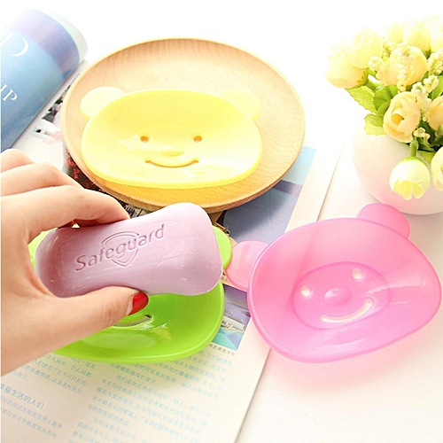 Bear Soap Box Dish Plate Case Holder Storage Shower Home Kitchen Bathroom Travel 11*8.5cm