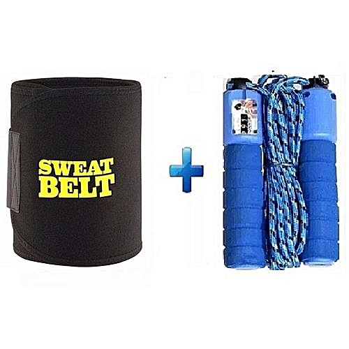 Waist/Tummy Trimmer Plus Counting Skipping Rope
