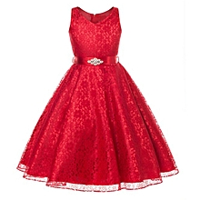 1e1b872c895 Comfortable Kids Summer Dress Girls Sleeveless Dress Skirt + Diamond  Studded Belt Girls Wedding Dress