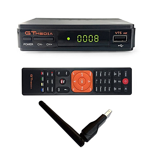 TA Receptor Satelital GTMedia V7S FREESAT FULL HD 1080p Dvb-s2 RT5370 Antena WIFI