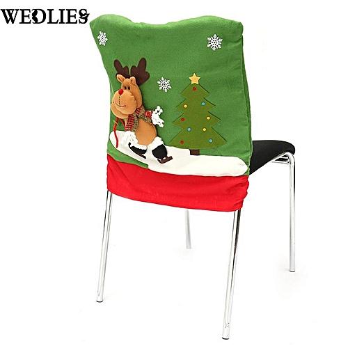 3D Christmas Chair Covers Dinner Table Santa Snowman Home Party Decor Ornaments