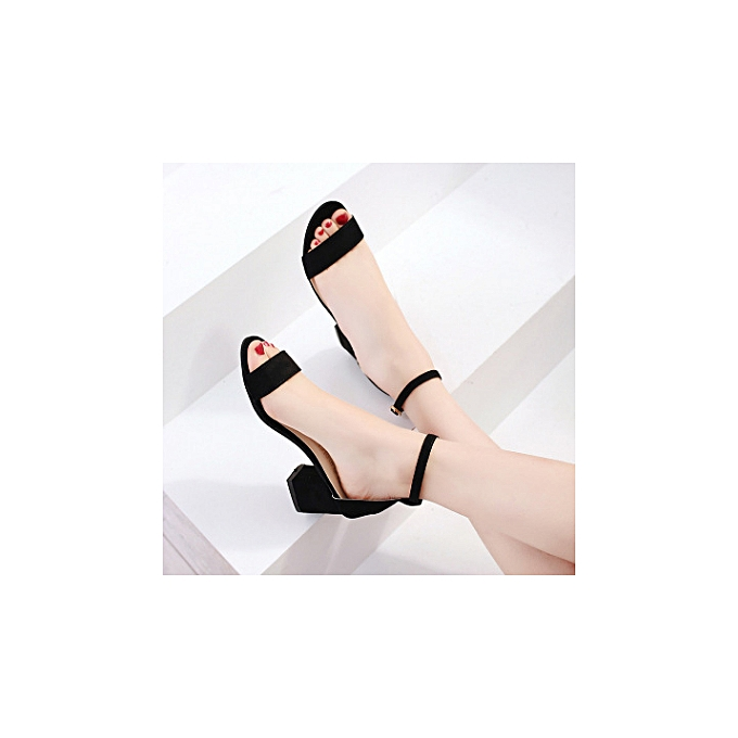 4831a5af5a5 Ladies Ankle Strap Shoes Moderate Block Heel Sandal