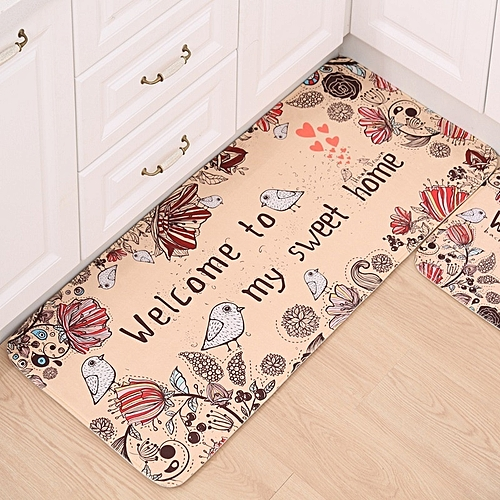 40*60cm Bathroom Mats Kitchen Rugs Anti-skid Pad Cartoon Ottomans Carpet