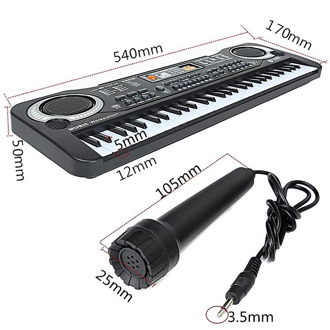 generic 3pcs 61 keys digital music electronic keyboard key board gift electric piano organ. Black Bedroom Furniture Sets. Home Design Ideas