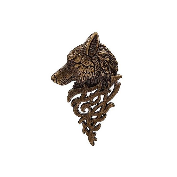 fashion tanson fashion wolf head pattern blazer collar brooch for