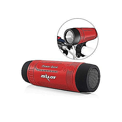 Zealot S-1 Portable Bluetooth Speaker And Torch-Red